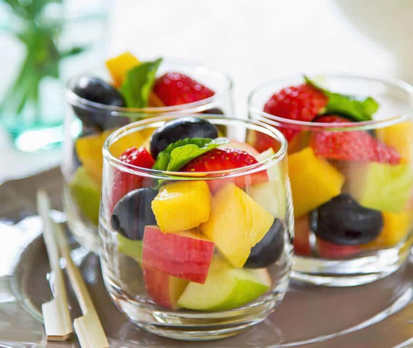 Салат с фруктов