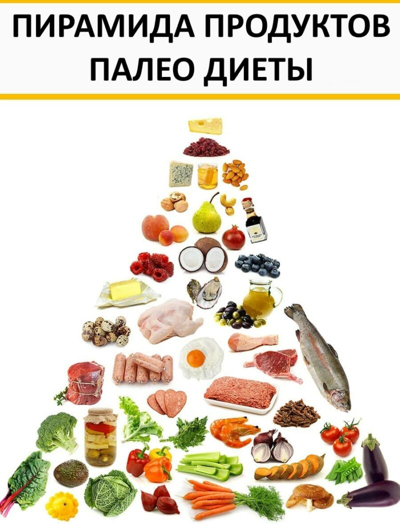 Пирамида продуктов палео диеты