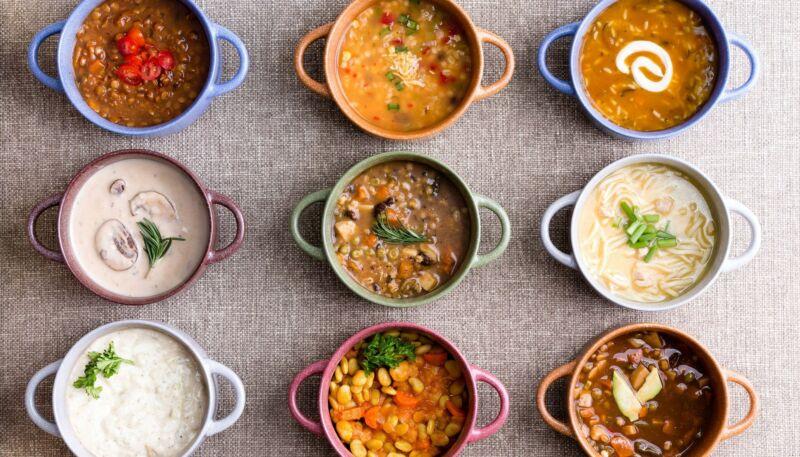 Тарелки с супами