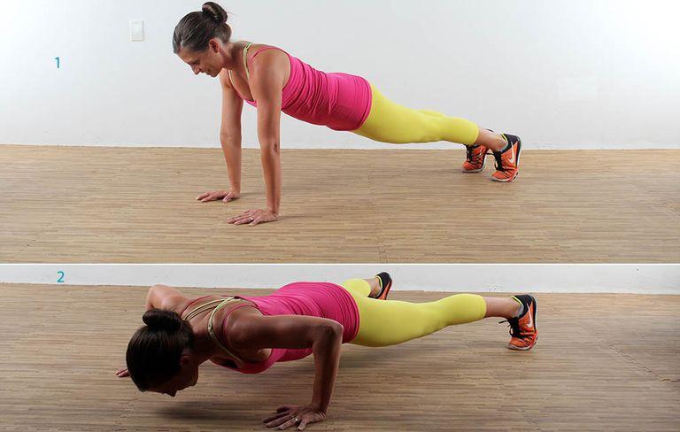 Упражнение Отжимания из стороны в сторону
