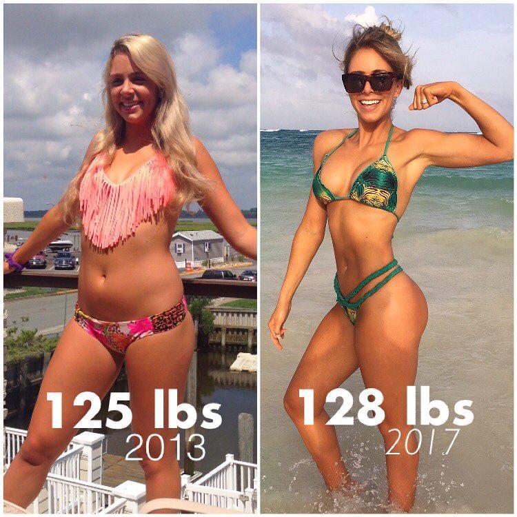 Женщина до и после похудения набравшая вес 1