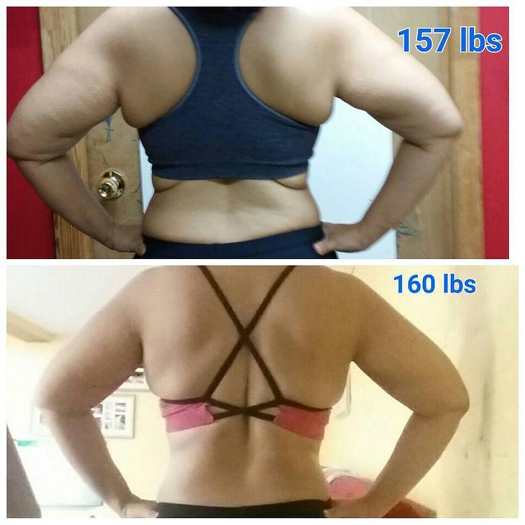 Женщина до и после похудения набравшая вес 7