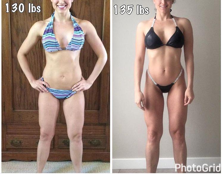 Женщина до и после похудения набравшая вес 4