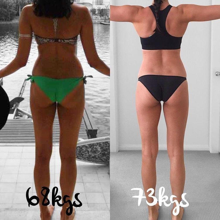 Женщина до и после похудения набравшая вес 5