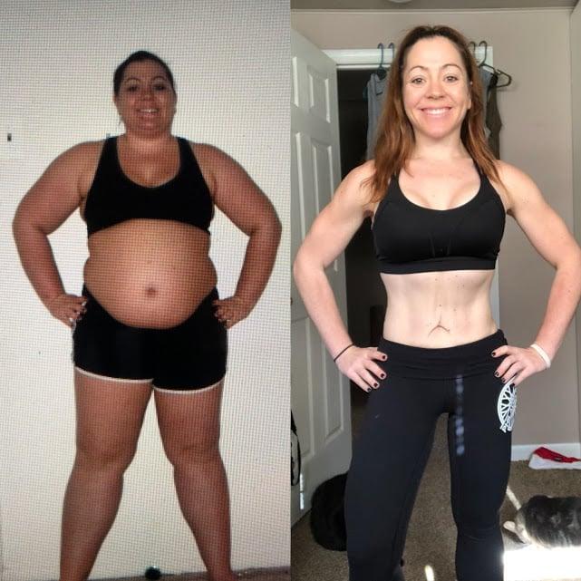 Фотографии до и после похудения Адриенн Уолтер