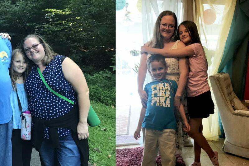 Фотографии до и после похудения Натали Маккейн