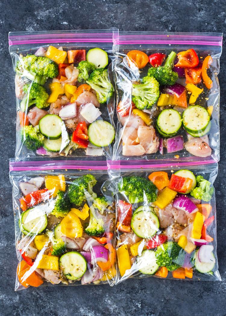 Замороженные овощи в пакетах