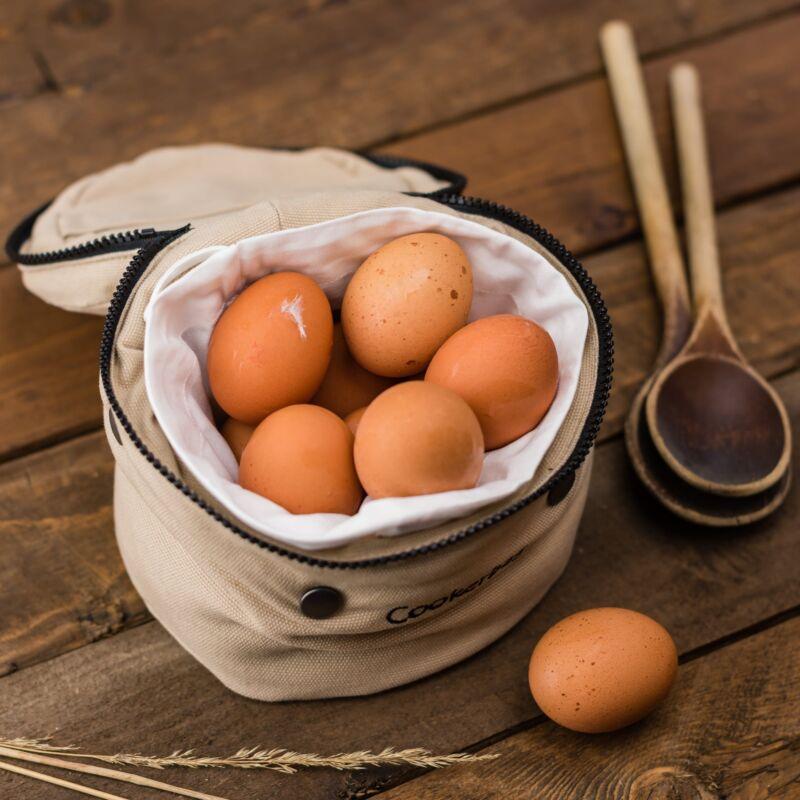 Сумка с куриными яйцами
