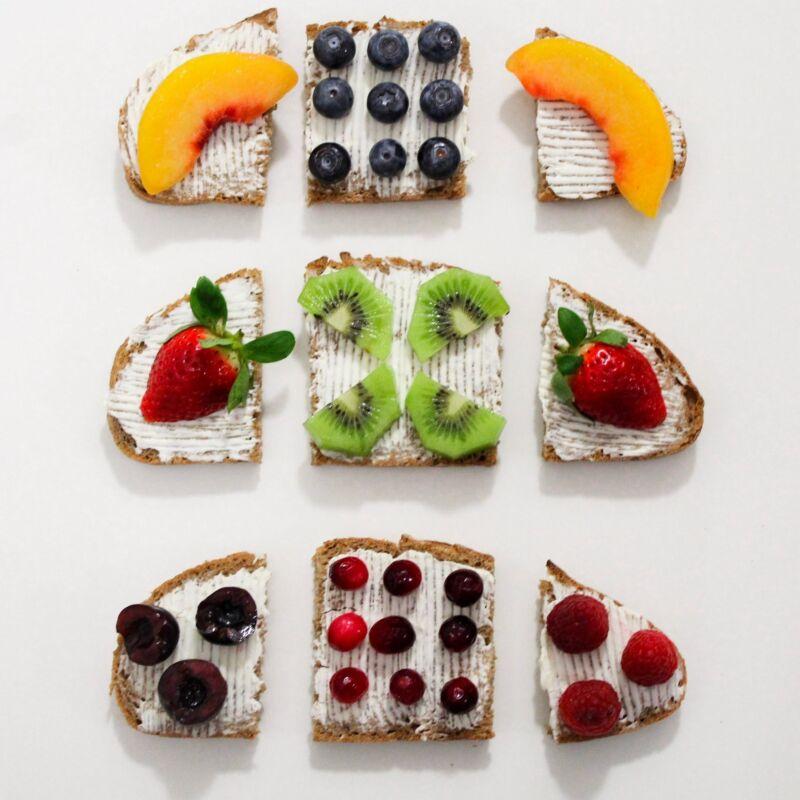 Бутерброды с фруктами